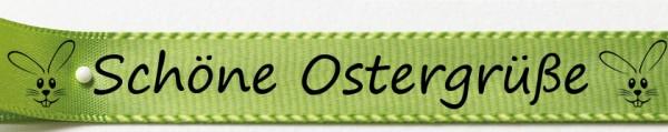Schöne Ostergrüße lindgrün: 15mm breit / 25m-Rolle