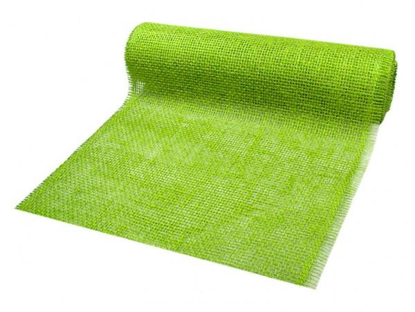 DEKOR-Jute - Tischläufer: 300mm breit / 10m-Rolle, apfelgrün