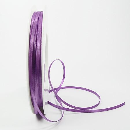 Satinband-SINFINITY, lavendel: 3mm breit / 50m-Rolle, mit feiner Webkante