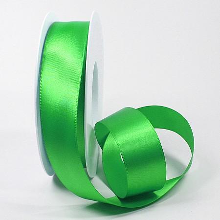 Satinband-SINFINITY, apfelgrün: 25mm breit / 25m-Rolle, mit feiner Webkante