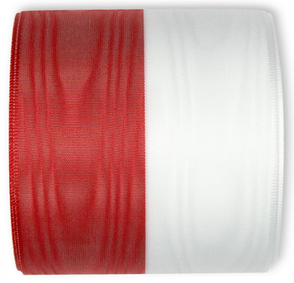 Nationalband POLEN, rot-weiss, 100 mm breit / 25m-Rolle
