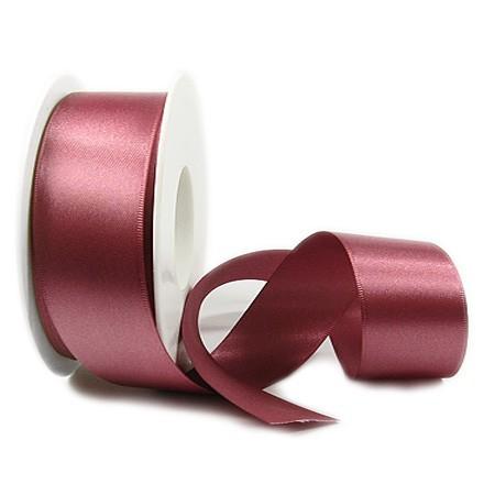Satinband-SINFINITY, altrosa: 38mm breit / 25m-Rolle, mit feiner Webkante