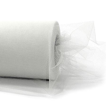 Tüllband, 100mm breit / 50m-Rolle, weiss