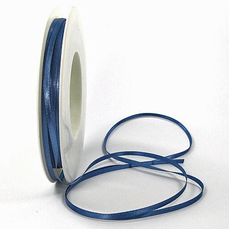 Satinband-SINFINITY, aquablau: 3mm breit / 50m-Rolle, mit feiner Webkante