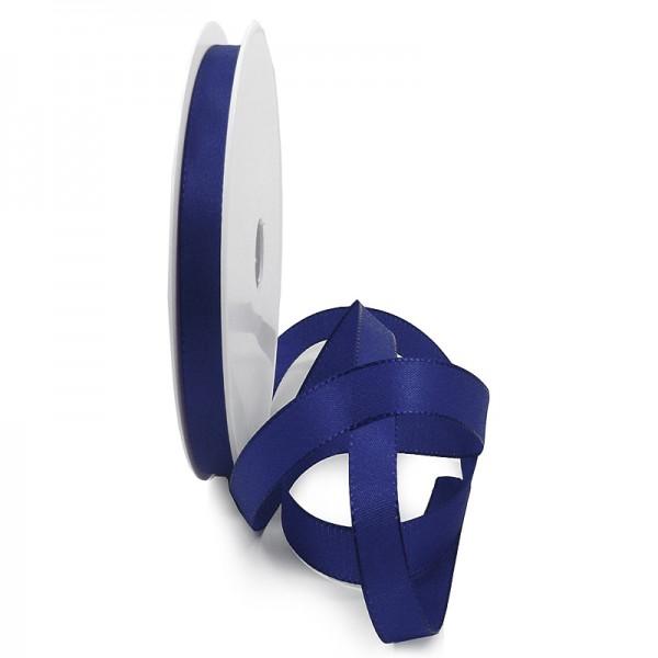 Taftband, dunkelblau: 10mm breit / 50-Rolle, mit feiner Webkante