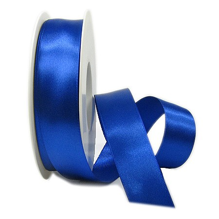 Satinband SATINA: 25 mm breit, 50 Meter, royalblau