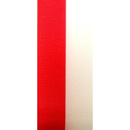 Vereinsband Schützenband, rot-weiss, 150mm breit / 25m-Rolle