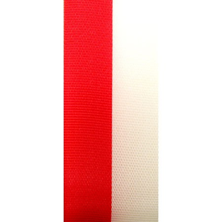 Nationalband POLEN, rot-weiss, 75mm breit / 25m-Rolle
