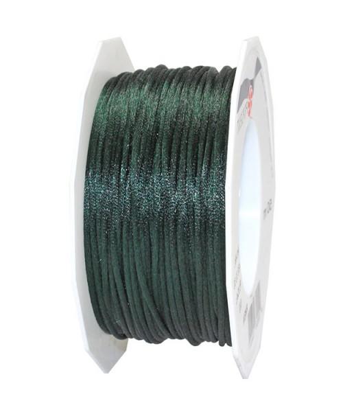 Satinkordel-RHEIN, tannengrün: 3 mm breit - 50-Meter-Rolle