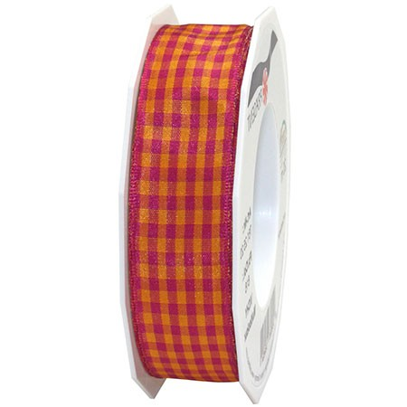 Vichy Multicolor, purpur: 25mm breit / 20m-Rolle
