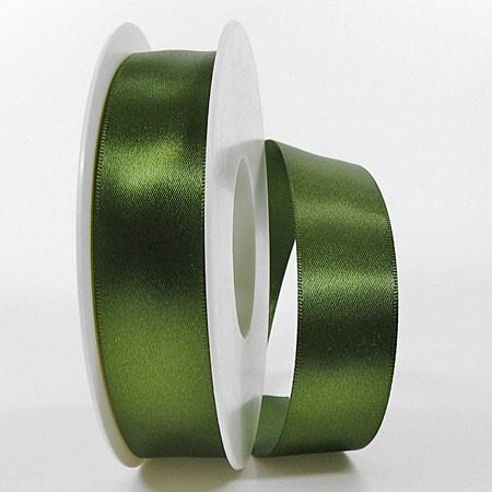 Satinband SINFINITY, moosgrün: 25mm breit / 25m-Rolle, mit feiner Webkante.
