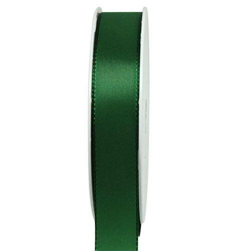 Taftband, jagdgrün: 25mm breit / 50m-Rolle, mit feiner Webkante.