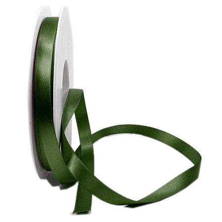 Satinband-SINFINITY, moosgrün: 10 mm breit / 25 Meter, mit feiner Webkante.