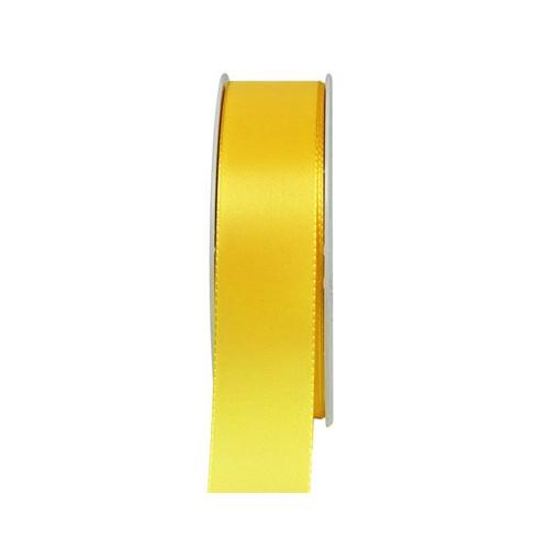 Taftband, hellgelb: 25mm breit / 50m-Rolle, mit feiner Webkante.