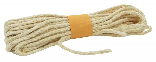 JUTE-Kordel, creme: 5 mm breit - 10 Meter