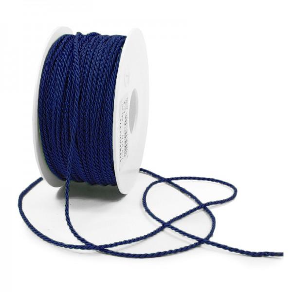 Kordel: 2mm breit / 50m-Rolle, dunkelblau