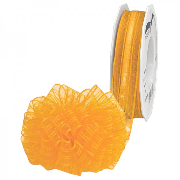 Ziehschleifenband VENEDIG: 25mm breit / 25m-Rolle, gelb