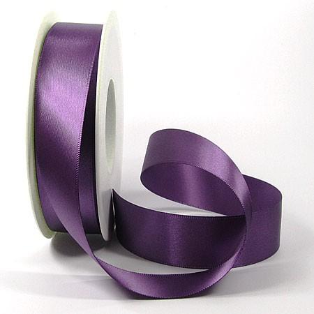 Satinband-SINFINITY, lila: 25mm breit / 25m-Rolle, mit feiner Webkante