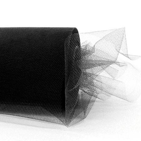 Tüllband, 100mm breit / 50m-Rolle, schwarz