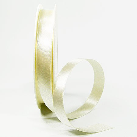 Satinband-SINFINITY, creme: 15mm breit / 25m-Rolle