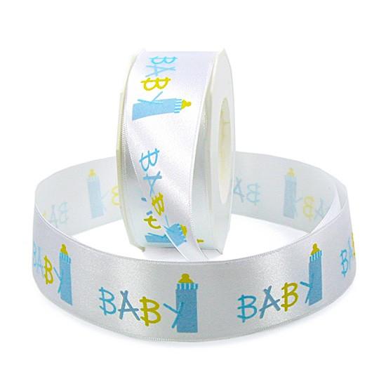 Baby-Dekoband: 40mm breit / 25m-Rolle, hellblau