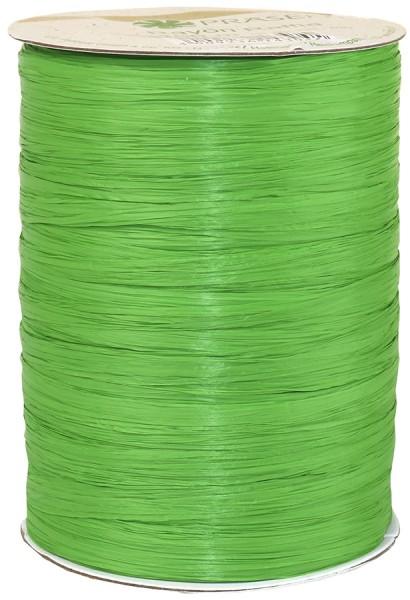 Raffia - RAYON, Bindebast: 10mm breit / 100m-Rolle, apfelgrün
