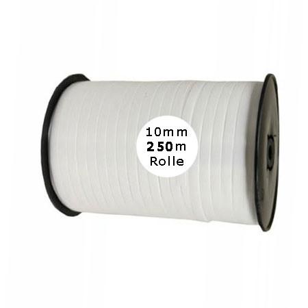 Ringelband: 10mm breit / 250m-Rolle, weiß