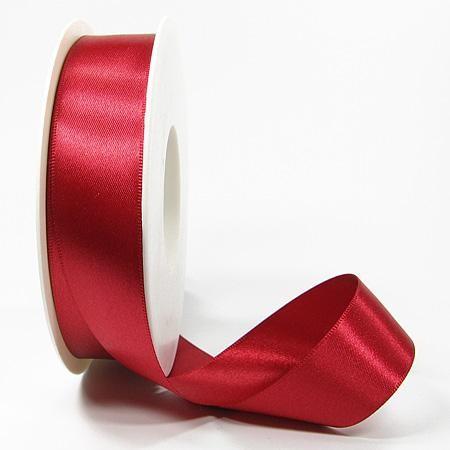 Satinband SATINA: 25 mm breit, 50 Meter, rot
