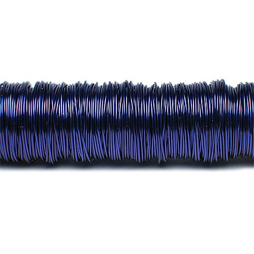 Decolackdraht, dunkelblau: 0,5mm Ø - 50m-SNAP-Spule = 100 gramm