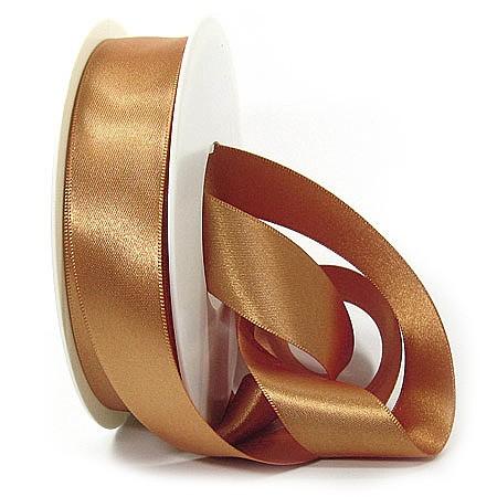 Satinband-SINFINITY, altgold: 25mm breit / 25m-Rolle, mit feiner Webkante