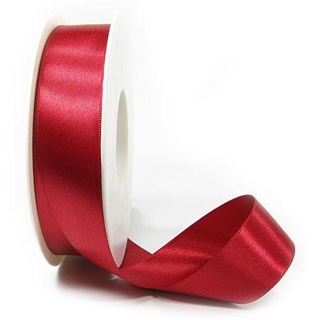 Satinband-SINFINITY, rot: 25mm breit / 25m-Rolle, mit feiner Webkante
