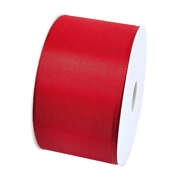 Taftband, rot: 60mm breit / 50m-Rolle, mit feiner Webkante