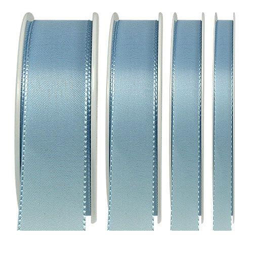 Taftband, hellblau: 10mm breit / 50m-Rolle