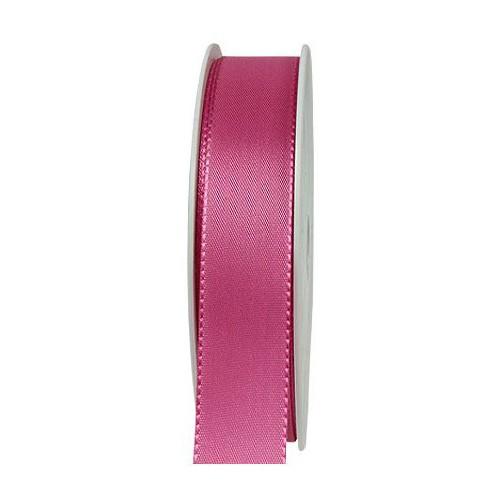 Taftband, pink: 25mm breit / 50m-Rolle, mit feiner Webkante.