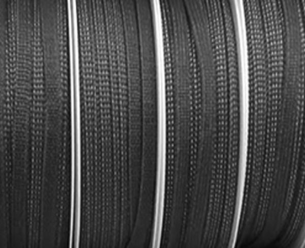 Gummiband 5mm breit / 20m-Rolle, schwarz -waschbar bis 60º Grad