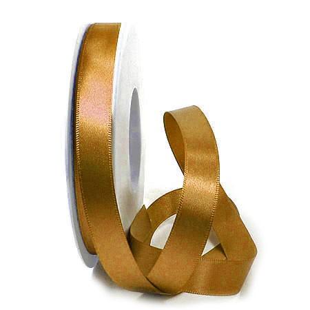 Satinband-SINFINITY, caramel: 15mm breit / 25m-Rolle, mit feiner Webkante.