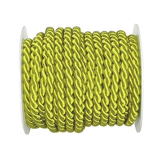 Kordel, einfarbig gedreht: 6mm breit Ø / 25m-Rolle, hellgrün