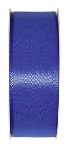 Taftband: 40mm breit / 50m-Rolle, royalblau.