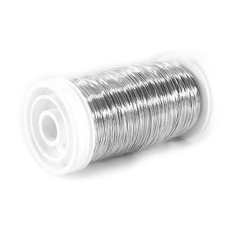 Myrtendraht, silber verzinkt: 0,37mm Ø - 100 gramm SNAP-Suple