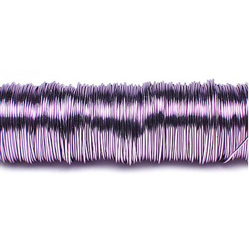 Decolackdraht, lavendel: 0,5mm Ø - 50m-SNAP-Spule = 100 gramm