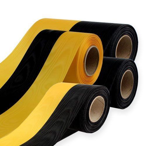 Vereinsband: 75mm breit / 25m-Rolle, schwarz-gelb