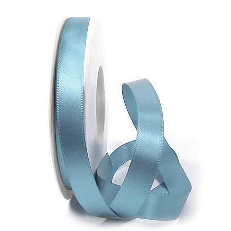 Satinband SINFINITY, hellblau: 15mm breit / 25m-Rolle, mit feiner Webkante.