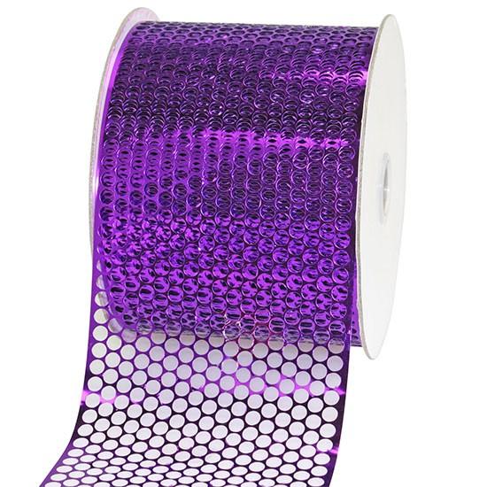 LOCHBAND-Chicago: 80mm breit / 45m-Rolle, lila-violett-metallic