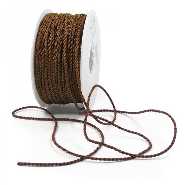 Kordel: 2mm breit / 50m-Rolle, dunkelbraun.