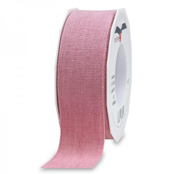 LEINEN, rosa, 40mm breit / 15m-Rolle