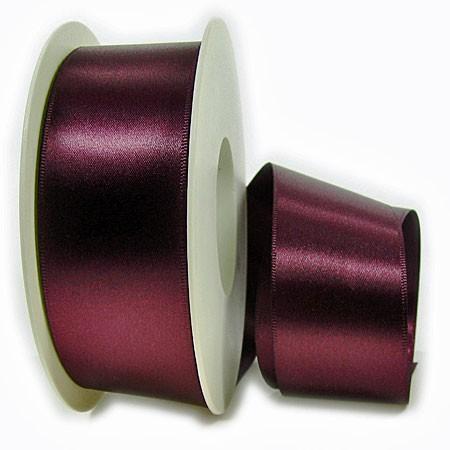 Satinband-SINFINITY, aubergine: 38mm breit / 25m-Rolle, mit feiner Webkante