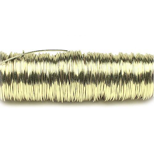 Decolackdraht, champagner: 0,5mm Ø - 50m-SNAP-Spule = 100 gramm