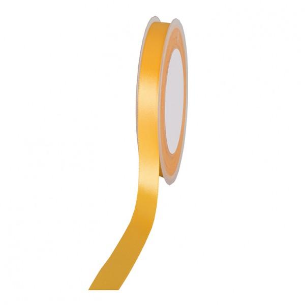Satinband SIMPEL, gelb: 10 mm breit / 25 Meter, mit einfacher schlichter Webkante.
