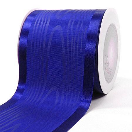 Satinband-Tischband Luxury: 100mm breit / 20m-Rolle, royalblau