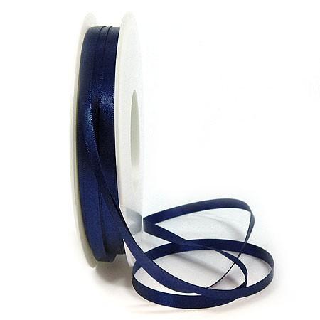 Satinband SINFINITY, nachtblau: 6mm breit / 50m-Rolle, mit feiner Webkante.